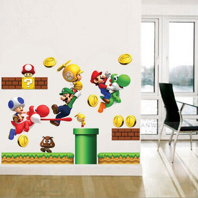 Super Mario Wall Stickers For Kids Rooms