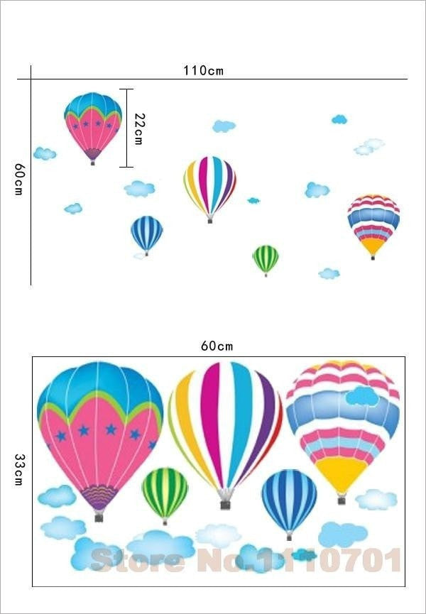 Balloon Wall Stickers Momeaz