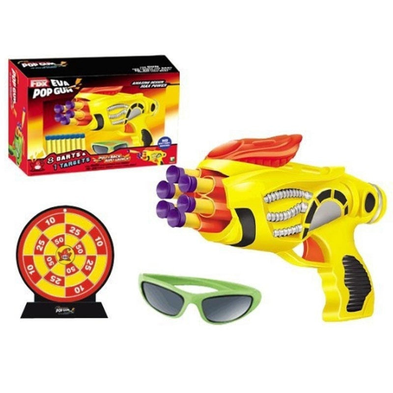 Continuous Riring Soft Nerf Gun Target Glasses