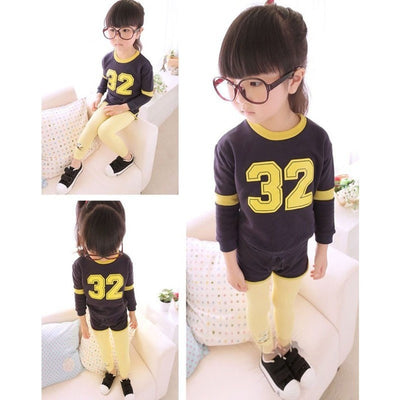 Girls Cotton Long Pants Winter Leggings