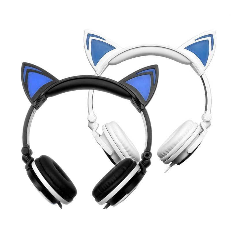 Cute Cat Wired Foldable Headphones - Momeaz