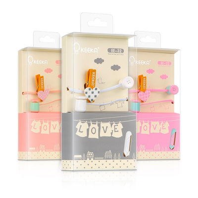 Cute Buttons and Clothespins Headphones