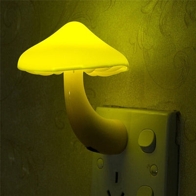 Mushroom Wall Socket Night Light