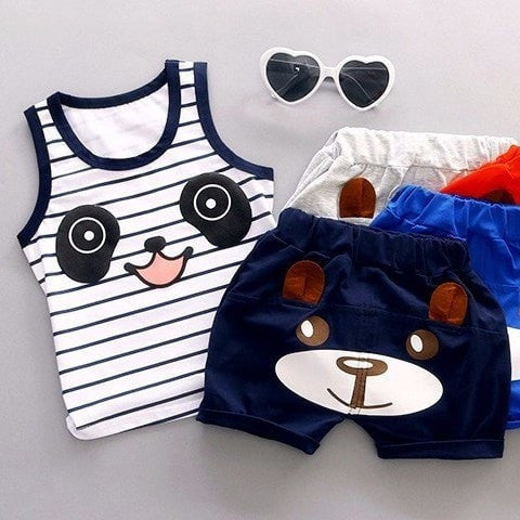Baby Boys Cotton Clothing Sets For 1-3 Years Old