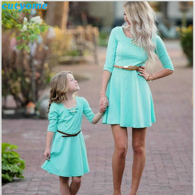 Azur Holiday Dress For Daughter&Mom