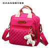 Three-In-One Bag High Level Canvas Colorful Mommy Diaper Bag