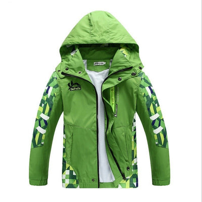 Boy's Jacket Coats Water And Wind Proof Outwear