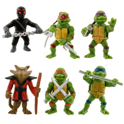 Teenage Mutant Ninja Turtles Action Figures 6 PCS Set