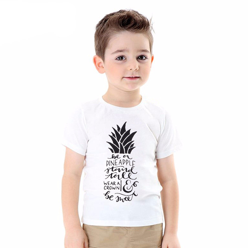 0e1310116 Pineapple Quote Boy T-shirts - Momeaz