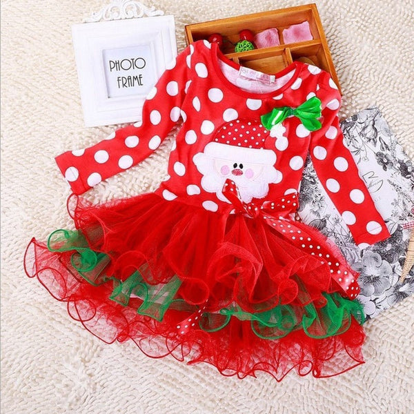 Christmas Girl Dress Long Sleeve