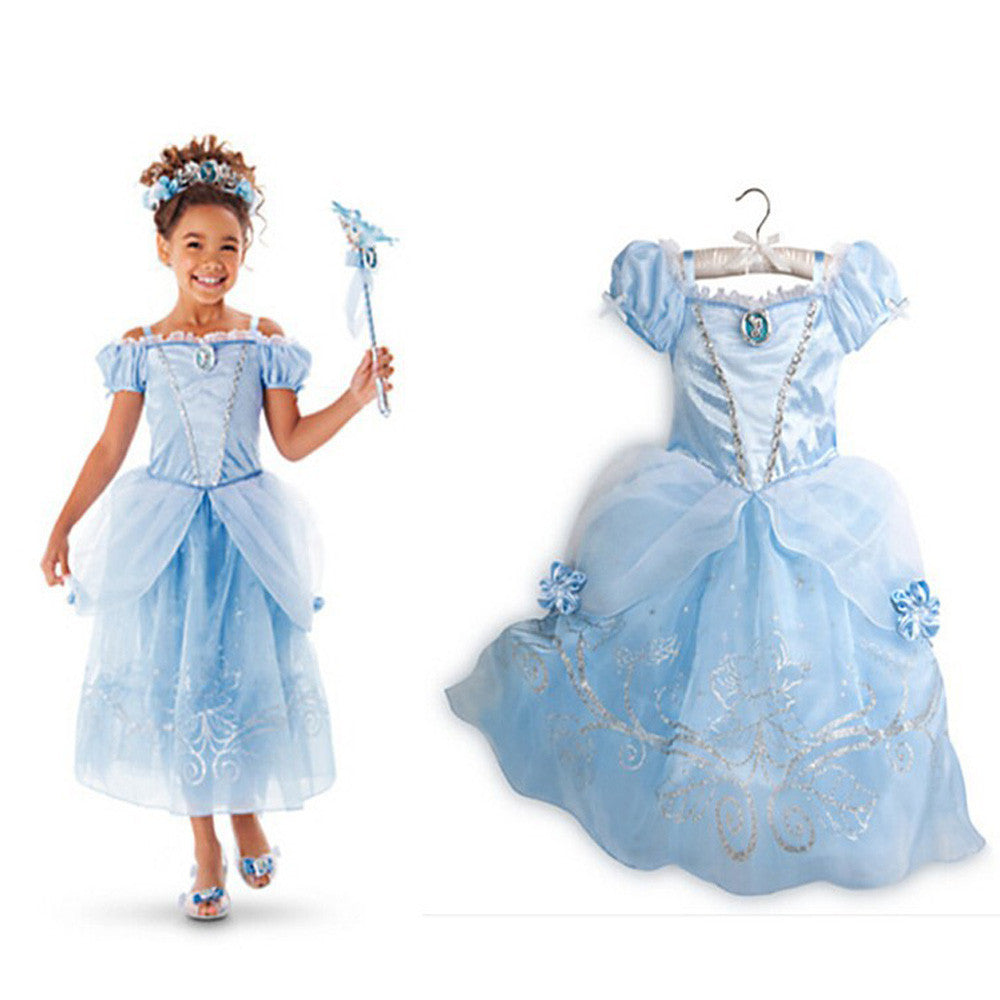 Girls Costume Princess Dresses - Momeaz