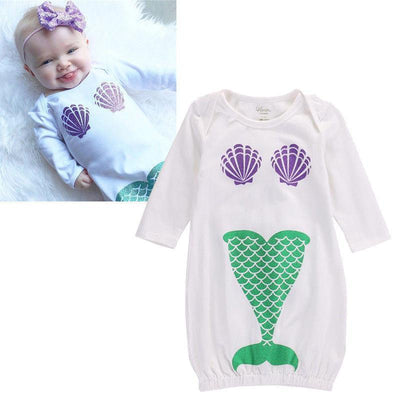 Baby Girl Mermaid Romper - Dealeaz