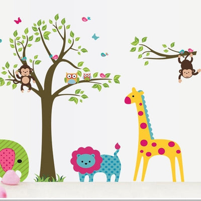 Animal Tree Wall Stickers