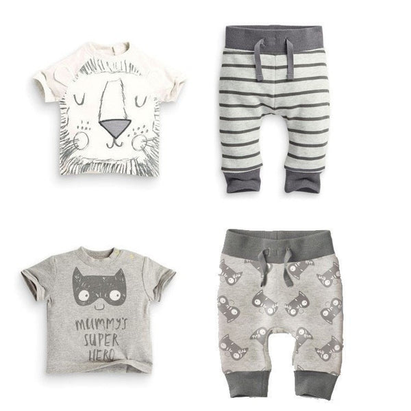Baby Boy Cotton 2pcs Set Clothing - Little Monsters and Lion