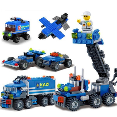 Transport Dumper Truck Building Blocks Can Build 8 Shapes 163pcs