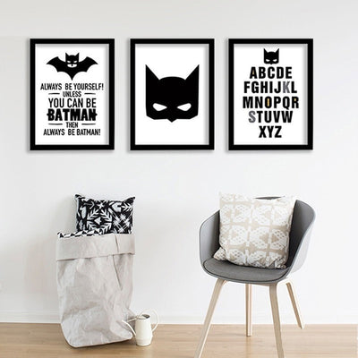 Batman Canvas Poster Printed