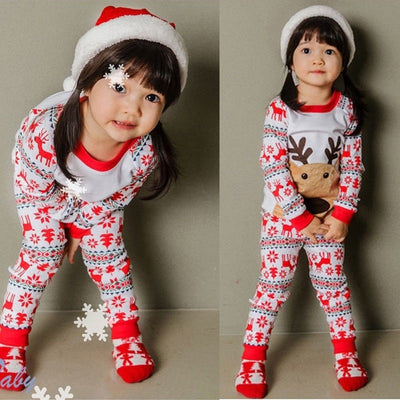 Christmas Pyjamas Children Snowflake Reindeer