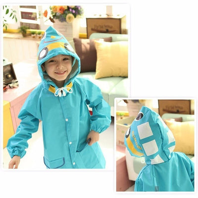 Cute Kid Waterproof Raincoat Poncho