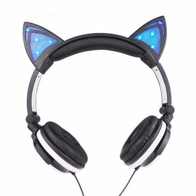 Cute Cat Wired Foldable Headphones