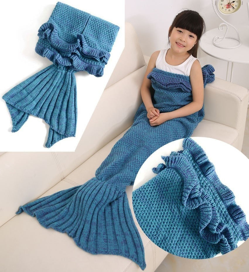 children mermaid tail blanket with ruffles momeaz