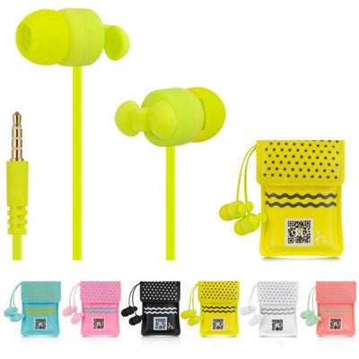 Colorful Earphone With Cute Bag