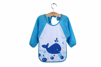 Toddler Waterproof Long Sleeve Bib Art Apron