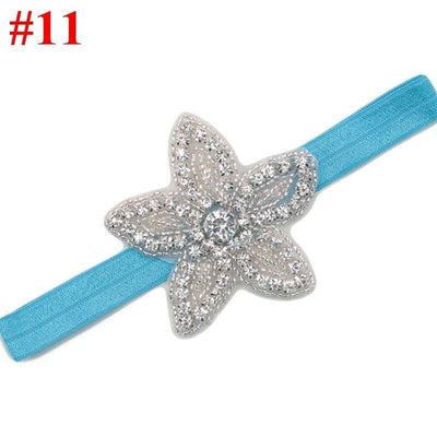 Baby Girls Rhinestone Flower Star Headband