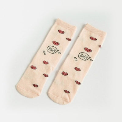 Cartoon Pattern Children's High Knee Socks