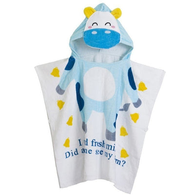 Children Hooded Poncho Swim Beach Bath Towel