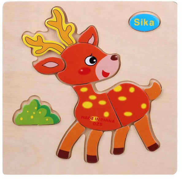 Educational 3D Wooden Puzzle