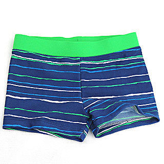 Boy Swim Striped Trunks