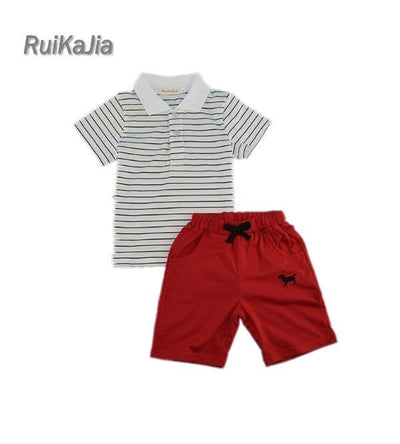 Baby Boys Cotton Clothing Sets Summer Polo T-Shirt