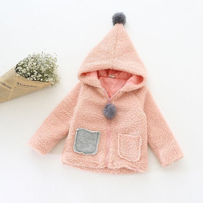 Fashion Baby Girls Coat With Cute Ears