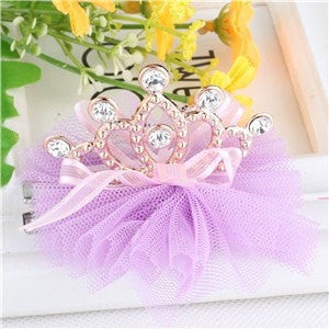 Shiny Rhinestone Cown Hair Clip For Girls