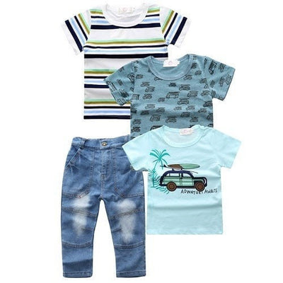 Fashion Baby Boy 3/4pcs Set Clothes
