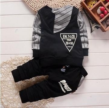 Fashion Baby Boy Clothing + Trousers Sets