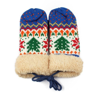 Christmas Tree Warm Mittens
