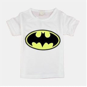 Kids Unisex Cartoon Short Sleeve T-Shirts 100% Cotton