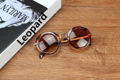 Round Designer Child Sunglasses Anti-UV