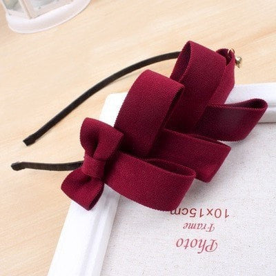 Cloth Art bowknot Multilayer Tiara