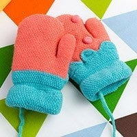Cute Strawberry Kids Winter Gloves