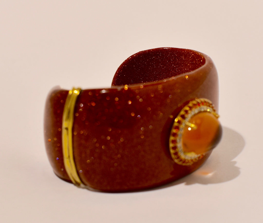 Firey Nights Jeweled Cuff