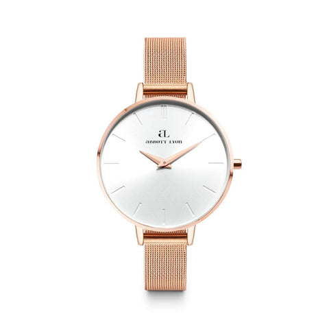 Rose Gold Minimale 38 Mesh (Rose/White)