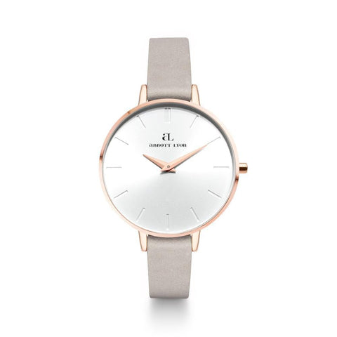 Rose Gold Minimale 38 Wildleder Grau (Rose/White)
