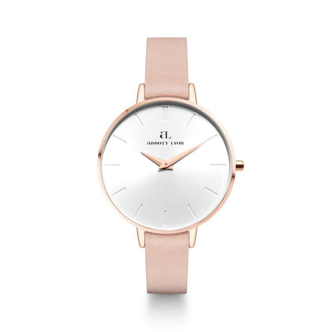 Rose Gold Minimale 38 Leder Hautfarben (Rose/White)