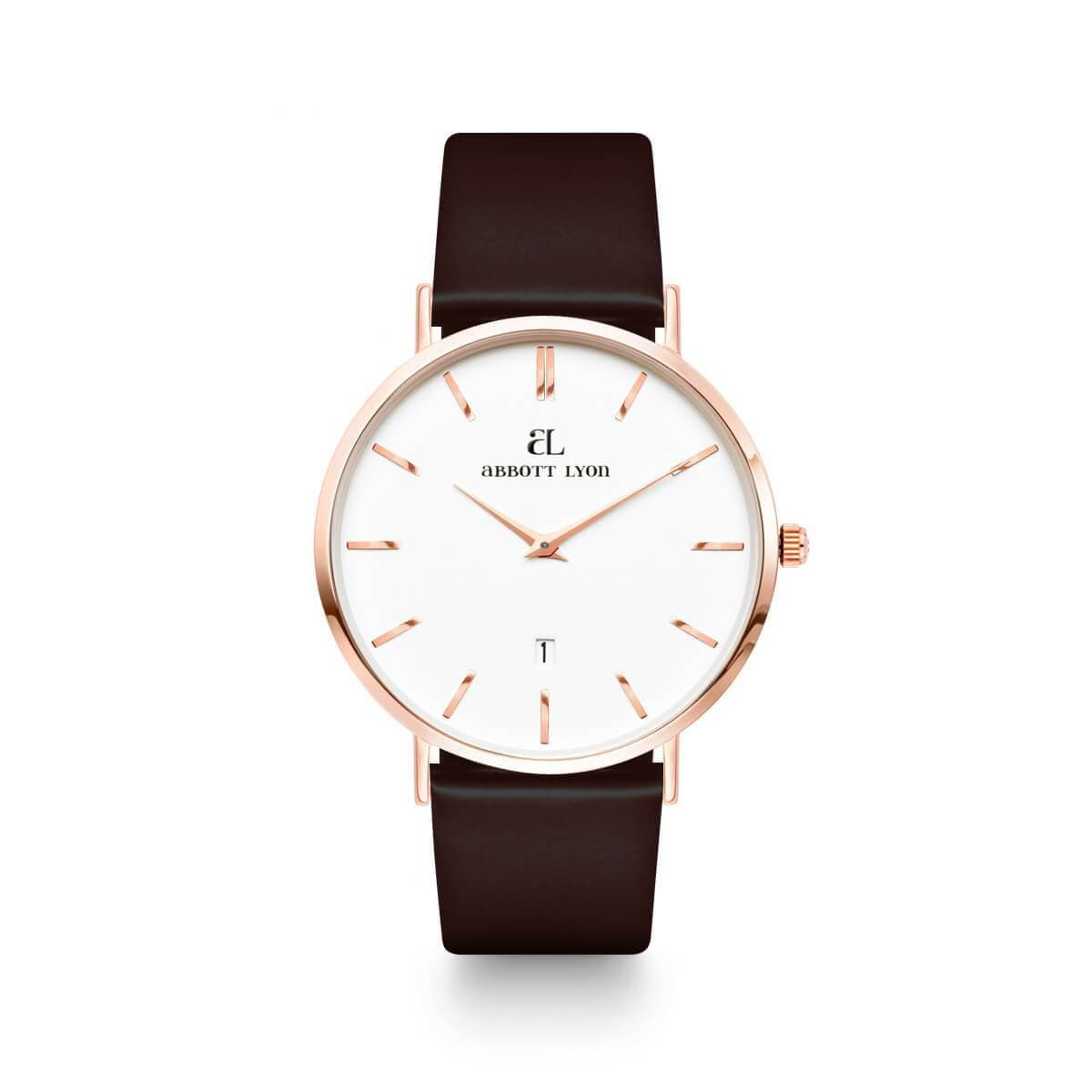 Jet Black Patent Kensington Rose Gold 40