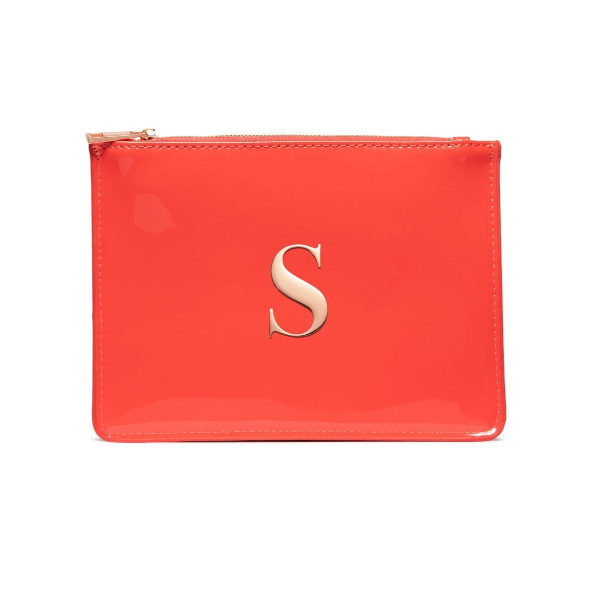 Coral Patent Sienna Clutch