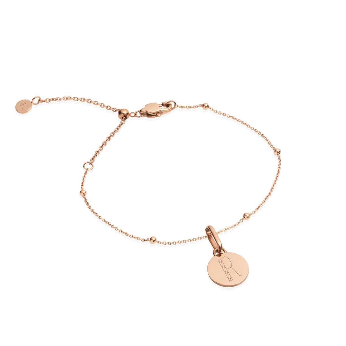 Circular Sphere Chain Bracelet (Rose Gold)