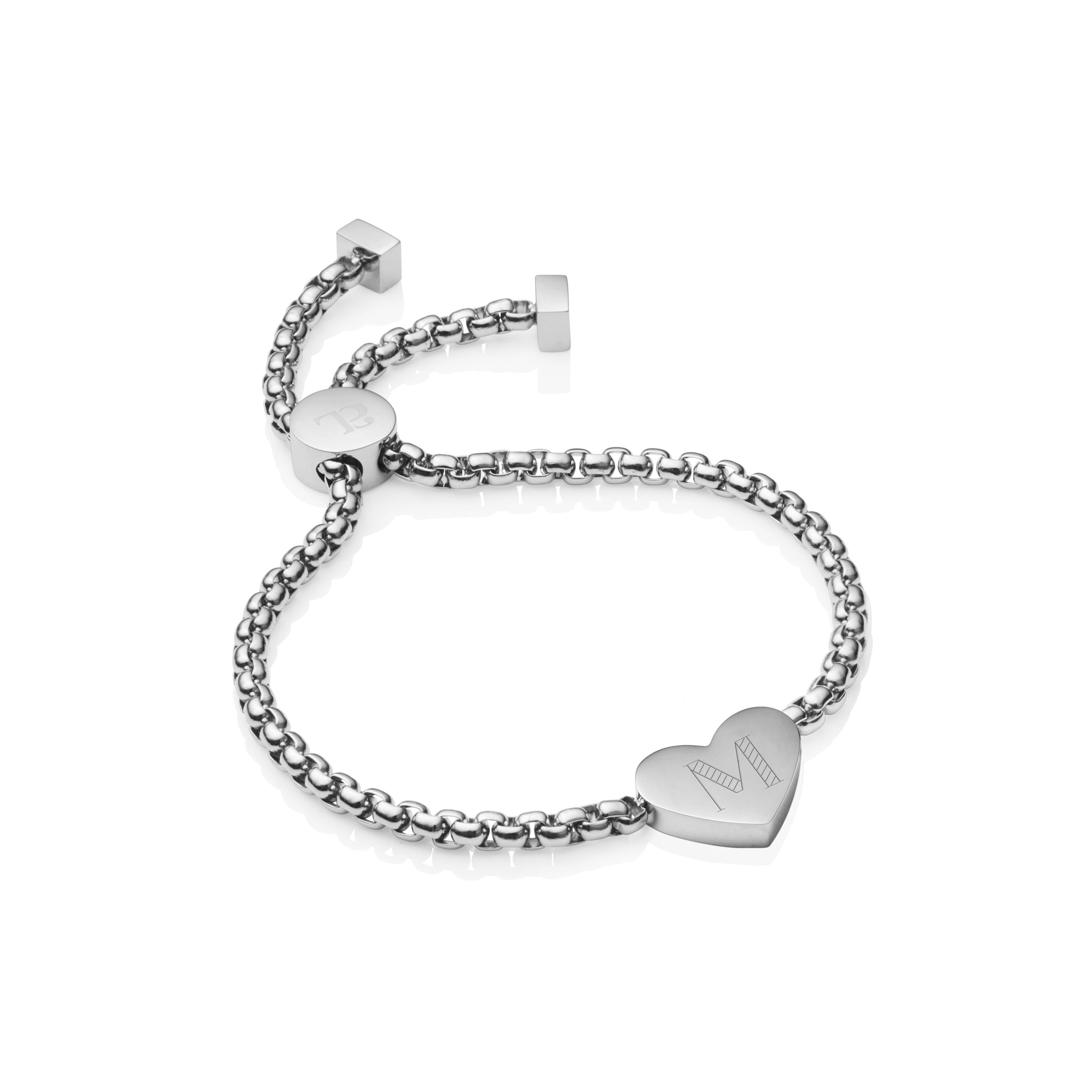 Heart Personalise Eternal Rose Gift Set (Silver)