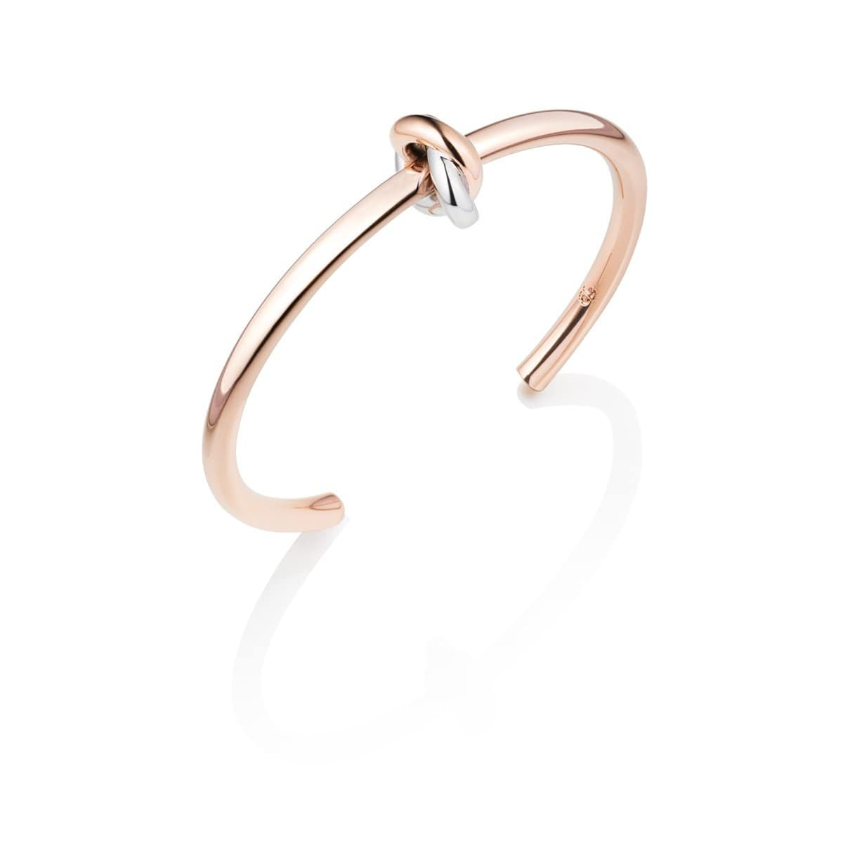 Knot Bangle (Rose/Silver)